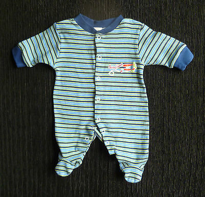 Baby clothes BOY premature/tiny<7.5lbs/3.4kg Baby Baby bright blue/navy babygrow
