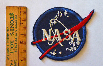 VINTAGE NASA VECTOR PATCH, EARLY 80's, THE REAL DEAL, NOT THE WAX ON VERSION