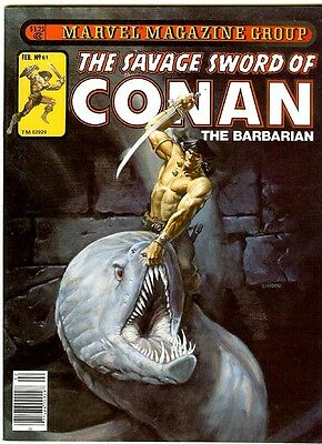SAVAGE SWORD OF CONAN #61 (1981) vf+, John Busema Conan + Gene Day