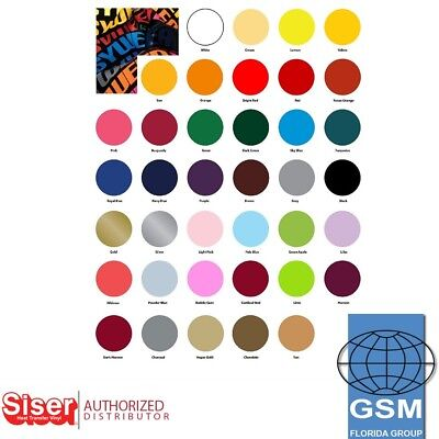 "SISER HTV EasyWeed Heat Transfer Vinyl Material 15"" x 5 Yards (38 COLORS) MIX"