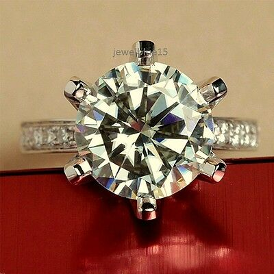 2.00 CT Off White Real Moissanite Engagement Solitaire 925 Sterling Silver Ring