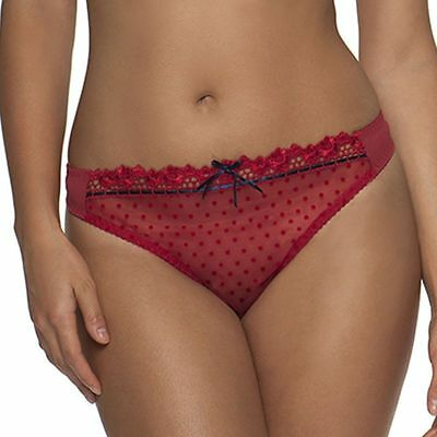 Curvy Kate Princess Thong CK6002 Cranberry Red - Size XL/16 UK