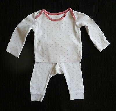Baby clothes BOY GIRL 3-6 M&S white/red star outfit/pyjamas 2nd item post-free!