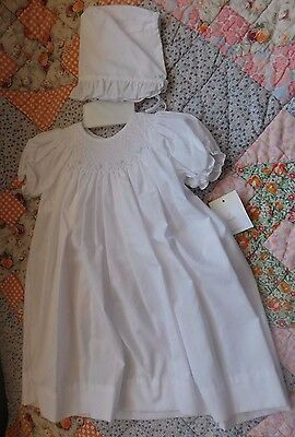 NWT Girls Day  Gown Christening, LDS Blessing Smocked 5905