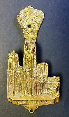 Vintage 'YORK MINSTER' Abbey Brass Cottage Door Knocker from England
