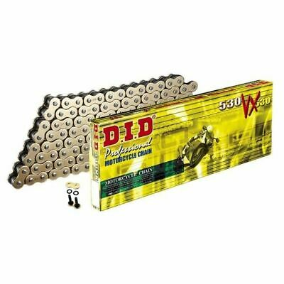 DID Gold Heavy Duty X-Ring Motorcycle Chain 530VXGB Pitch 124 Link