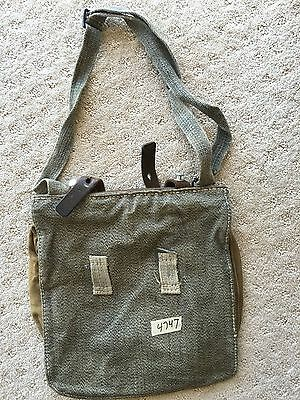 Swiss Military Messenger Bag WWII Type Salt Pepper Surplus Leather Shouldr 4747