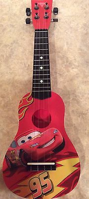 Disney Pixar Cars 2 Learning Guitar By First Act Lightning Mcqueen Euc