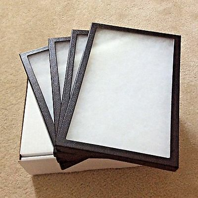 "1 - Box (of 4) 8"" x 12"" x 3/4"" Display Cases (""Riker"" type - Made in USA)"