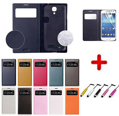 Smart S View Window Flip PU Leather Case Cover for Samsung Galaxy S4 Mini i9190