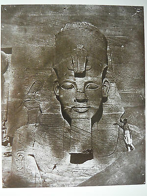 Postcard / Colossus of Abu Simbel, Egypt / Maxime du Camp / 1851