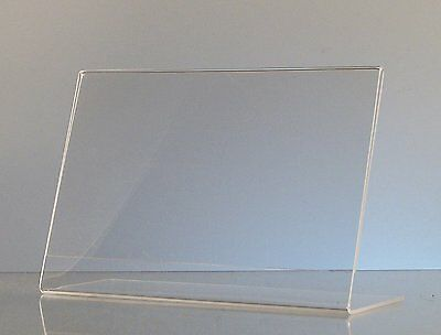 Dazzling Displays 6-pack Acrylic 6 X 4 Slanted Sign Holders