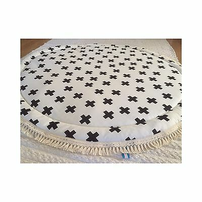 Deer And Dot BABY PADDED ROUND TUMMY TIME PLAY MAT ROUNDIES NURSERY RUG BLANKET