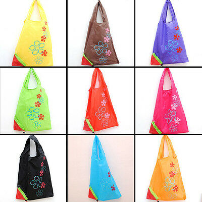 New Women's Shopping Bag Reusable Nylon Grocery Tote Outdoor Storage Carrier