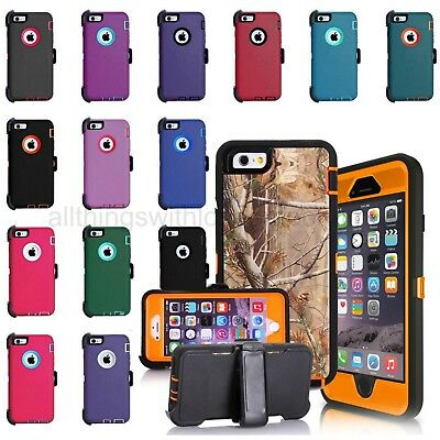 For Apple iPhone 6s, 6 Rugged Case w/Belt Clip (Holster Fits Otterbox Defender)