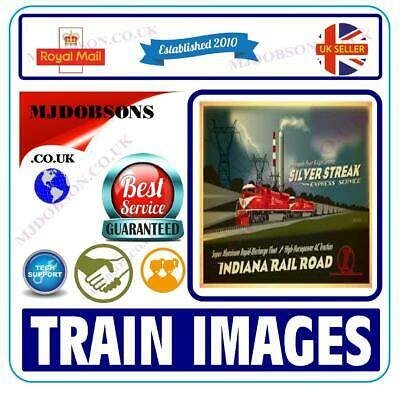 RAILWAY POSTERS & 2,360 TRAIN IMAGES/PHOTOS Immediate Download