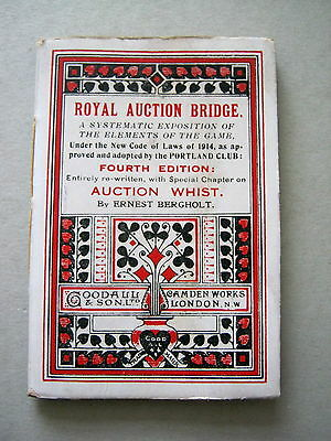 Playing Cards Antique Goodall Rules Bergholt On Royal Auction Bridge 1921 92 Pgs