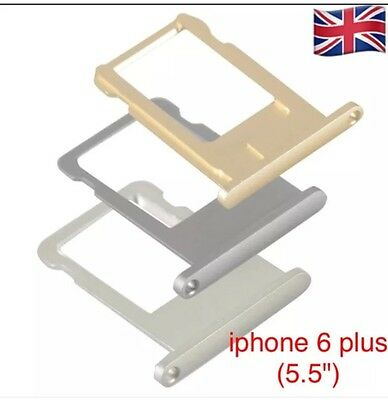 """iphone 6 Plus(5.5"""") Sim Card Holder Slot Tray Replacement + Sim opening Ejector"""