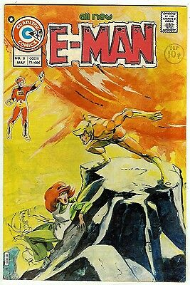E-Man #8 (Charlton 1975; vf- 7.5) Joe Staton art