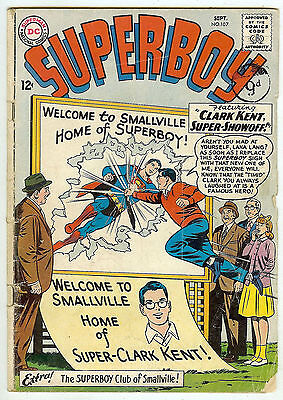 Superboy #107 (1963 vg- 3.5) guide value in this grade: $16.00 (£10.00)
