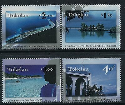 1997 Tokelau South Pacific Commission Anniversary Set Of 4 Fine Mint Mnh/muh