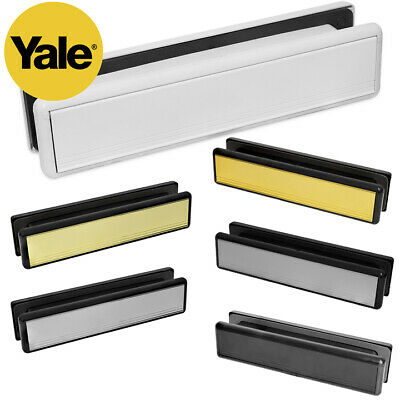 10 & 12 Inch Letter Plate Letter Box For uPVC Double Glazing & Wooden Doors