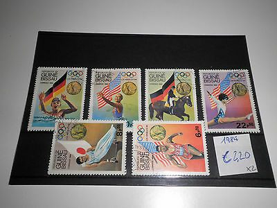 "Guinea Bissau 1984 ""olympics Los Angeles"" Used Lot (Cat.x)"