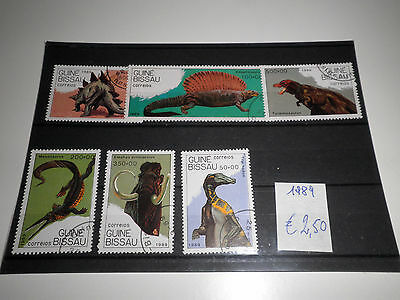 "Guinea Bissau 1989 ""prehistoric Animals"" Used Lot (Cat.x)"