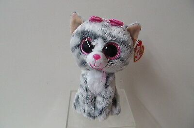 Kiki The Grey Cat(37190) - The  Beanie Boos From Ty
