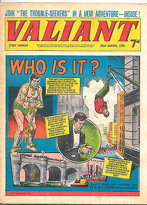 Valiant 22nd Aug 1970 (high grade copy) Slave of the Screamer, Kelly's Eye