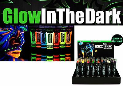 Paintglow Glow in the Dark Face Lips Body Paintstick Tube Neon Colours Halloween