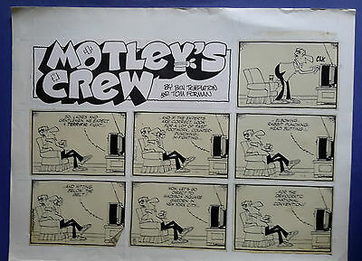 Motley's Crew Sunday Page 08-10-80, art Ben Templeton, original art
