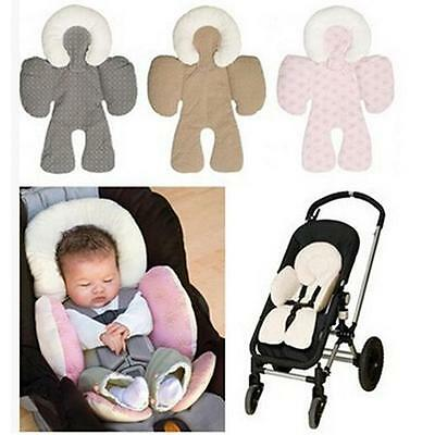 Hot!! Infant Stroller Pram Two Sided Seat Cushion Body Support Pad Liner Car FI