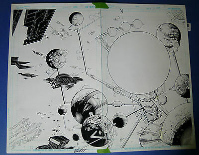 Green Lantern: New Guardians #5 pg 2-3 Mar '12 Original Art Kirkham / Banning
