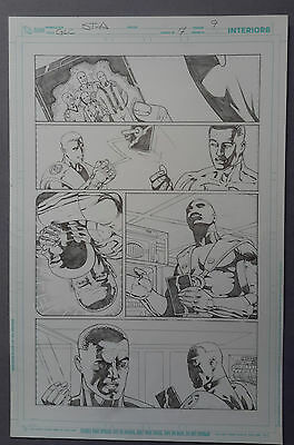 Green Lantern Corps Vol. 3 #7 pg.9, May'12 Original Art by St. Aubin, New 52