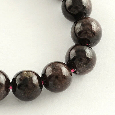 5Strands Natural Garnet Gemstone Bead Strands Round 6mm Hole 1mm 70pcs/strand