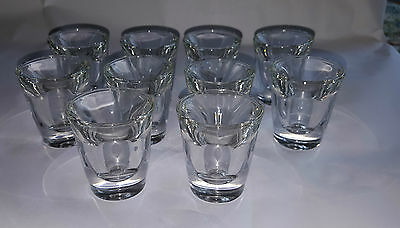 Ten Anchor Hocking Thick (1cm thick) Heavy Shot Glasses