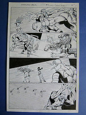 StormWatch Special #2 pg 25, May '95 Original Art Hamner / Crawford, Action!!!