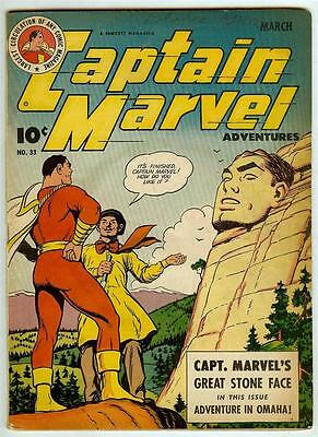 Captain Marvel Adventures #33 (Fawcett 1944 fn+) price guide value: $168 (£132)
