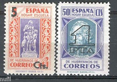 Spain Beneficencia edifil # 27/28 ** MNH Charity Celebridades