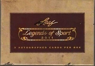 2011 Leaf Legends of Sport Multi-Sport Factory Sealed Hobby Box -3 Autos Per Box