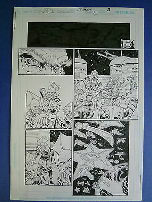 Rebels Annual Vol.2 #1 pg. 3 Dec.'09 Original Art by St. Aubin & Hanna
