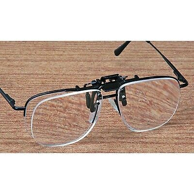 Clip On Glasses Flip Up Magnify Magnifier Eyeglasses Reader