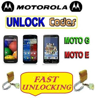 Motorola Moto G 4G 1St 2Nd 3Rd 4Th Gen G4 Unlock Code Vodafone O2 Ee Three Tesco