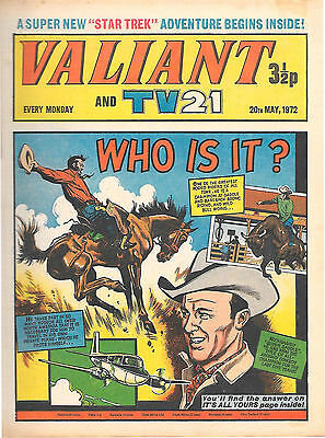 Valiant 20th May 1972 (top grade copy) Star Trek, Janus Stark, Steel Claw