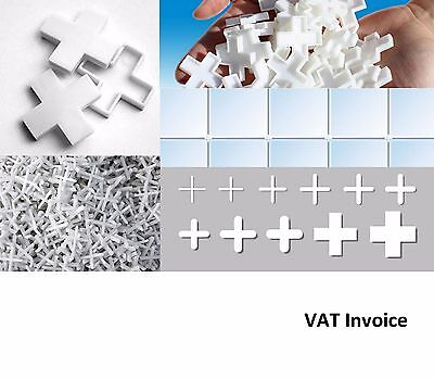White Tiling Tile Spacers Crosses 11 Sizes: 1 1.5 2 2.5 3 3.5 4 5 6 8 or 10mm