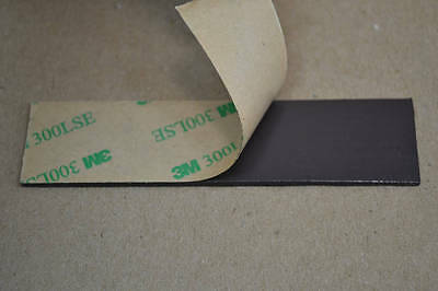 """New Lot of 10 Flexible Magnet Strips 1"""" x 4"""" with 3M Adhesive"""