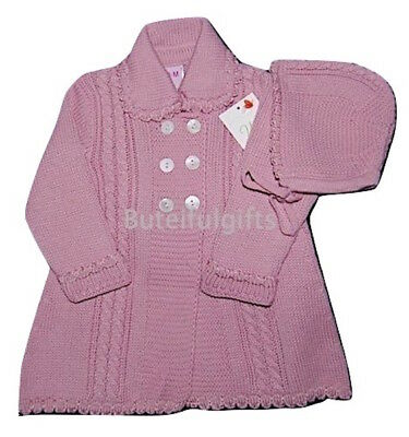 Spanish Knitted Cable Coat & Bonnet 0 - 24 Month *One Supplied*