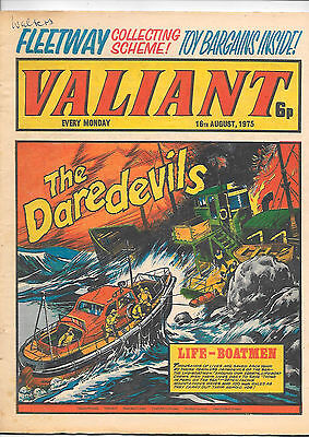 Valiant 16th August 1975 (very high grade) Adam Eterno, Kid Pharoah, Janus Stark
