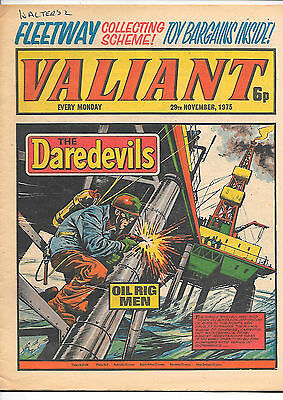 Valiant 29th Nov 1975 (very high grade) Adam Eterno, Kid Pharoah, Janus Stark